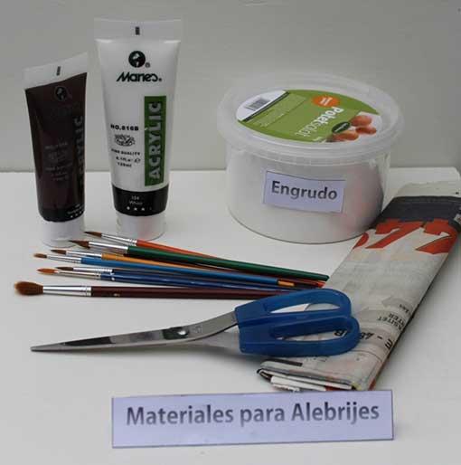 materiales para hacer un alebrije