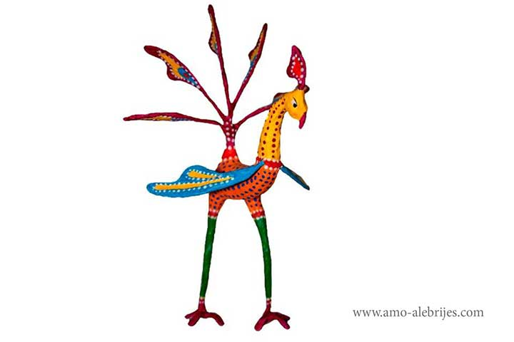 fotos de alebrijes gallo piernas largas