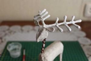 como elaborar un alebrije ciervo paso 19