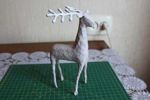 como elaborar un alebrije ciervo paso 21