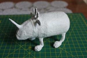 como hacer un alebrije de papel rinoceronte paso 11