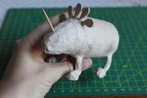 como hacer un alebrije de papel rinoceronte paso 8