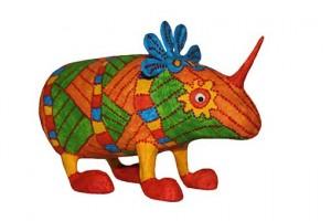como hacer un alebrije de papel rinoceronte