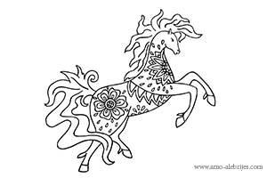 dibujos para colorear caballo fantastico