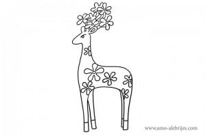 dibujos-para-colorear-cierva-cuernos-sakura