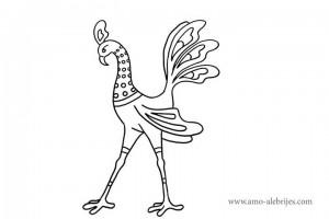 dibujos-para-colorear-gallo-piernas-largas