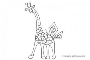 dibujos-para-colorear-jirafita-junglas