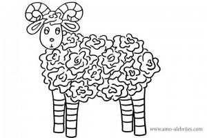 dibujos-para-colorear-ovejita
