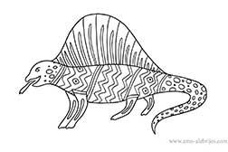 dibujos-para-colorear-dimetrodon
