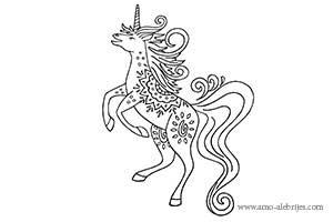 dibujos para colorear unicornio