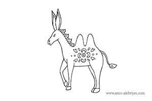 dibujos para colorear burro camello