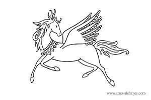 dibujos para dibujar caballo con alas