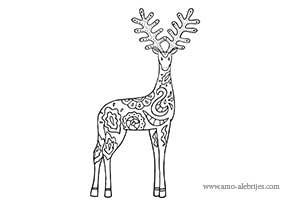 dibujos para colorear ciervo