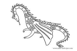 dibujos para colorear dragon de la montaña