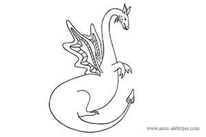 dibujos para colorear dragon del bosque