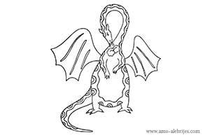 dibujos para colorear dragon gordito