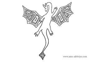 dibujos para colorear dragon-volador