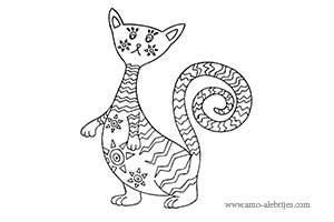 dibujos para dibujar gato triste