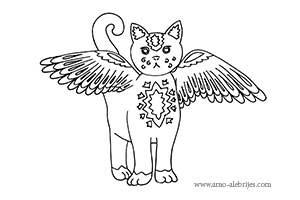 dibujos para dibujar gato volador