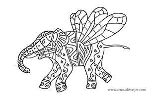 dibujos para dibujar elefante odonata