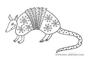 dibujos para dibujar armadillo