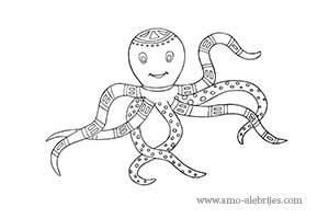 dibujos para dibujar alebrije pulpo alegre