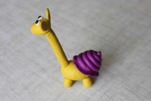 como hacer un alebrije de plastilina jirafa caracol paso 11