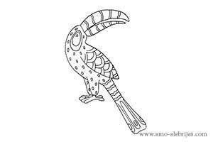 dibujos para dibujar alebrije tucan