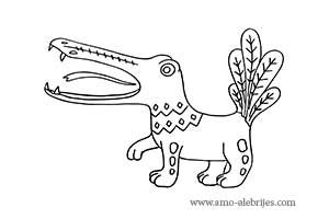 dibujos para dibujar cocodrilo fantastico
