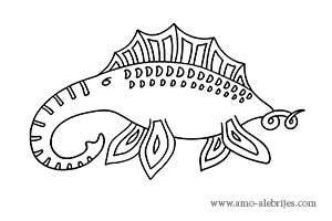 dibujos para dibujar elefante marino