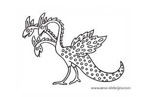 dibujos para dibujar bestia con tres cabezas