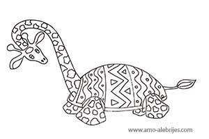 dibujos para dibujar jirafita tortuga