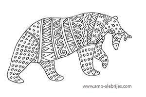 dibujos para dibujar oso con pez