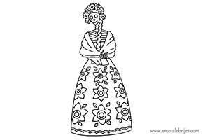 dibujos de catrinas catrina adelina