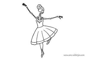dibujos de catrinas catrina bailarina