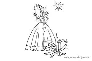 dibujos de catrinas catrina dina