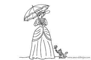 dibujos de catrinas catrina evelina