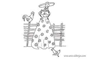 dibujos de catrinas catrina justina
