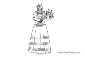 dibujos de catrinas catrina quirina