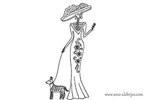 dibujos de catrinas catrina regina