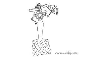 dibujos de catrinas catrina valentina