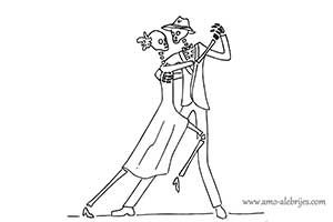 dibujos de catrinas catrinas en tango