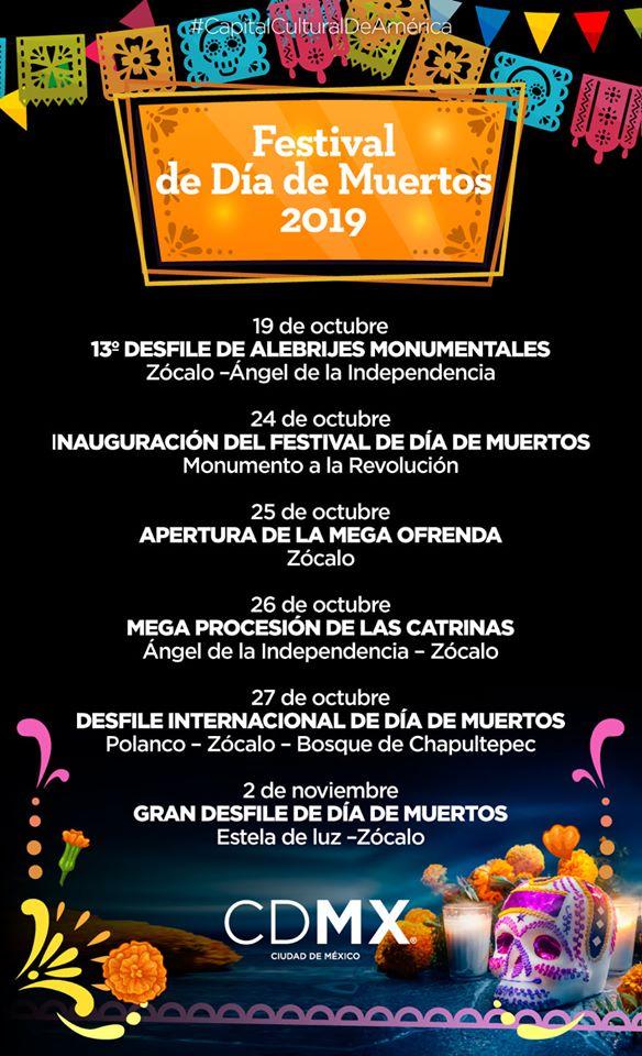 Festival día de Muertos 2019